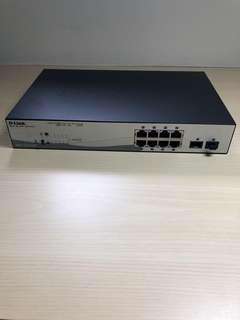 8-Port Gigabit Smart Managed PoE Switch with 2 Gigabit SFP ports, 65W PoE