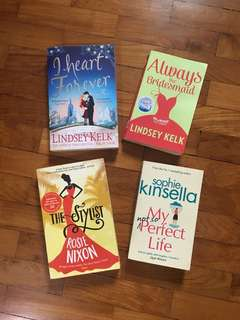 I heart Forever & Always the Bridesmaid by Lindsey Kelk / The Stylist by Rosie Nixon / My not so Perfect Life by Sophie Kinsella