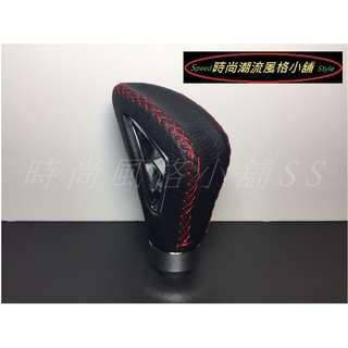 🚚 真皮紅線鏤空質感排檔頭 自排/手排通用型 Altis FORTIS WISH CAMRY 馬5 YARIS 206