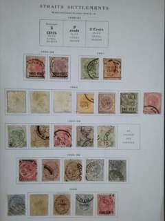 Malaya Straits Settlements 1882-1899 Queen Victoria Up To 50c With Surcharge - 26v Used Stamps