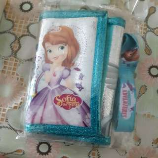 Sofia the first wallet and landyard