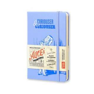[IN STOCK] Moleskine Alice in Wonderland Lined Notebook [Blue] [Limited edition]