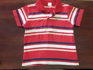 red stripes polo shirt