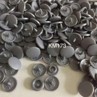 KM173DARK SILVER: Matte T5(12mm) Snap Button, 50 set(200pcs)