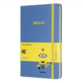 [IN STOCK] Moleskine Minions Notebook Lined Large [Limited Edition]