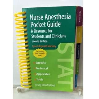 Nurse Anesthesia Pocket Guide - A Resource for Students and Clinicians