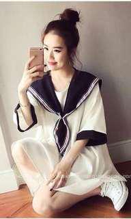 🚚 水手海軍洋裝連衣裙