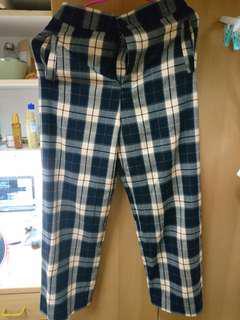 🚚 復古格紋長褲 格子褲