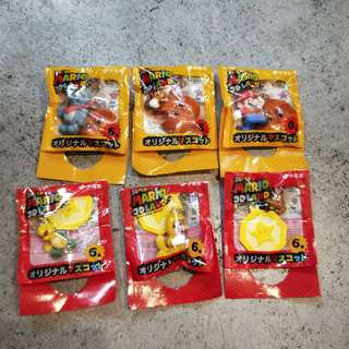 日本2011全6種瑪莉歐瑪莉兄弟便利商店限定伊籐園super mario 3d吊飾鑰匙圈蘑菇恐龍變身電動耀西絕版限定玩具