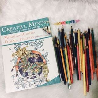 Adult Coloring Book with Free Colored Pens