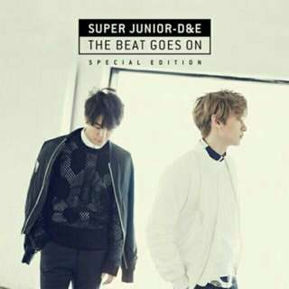 🚚 韓版super junior D&E the beat goes on 特別版