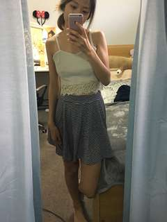 Stripes High Waisted Skirt