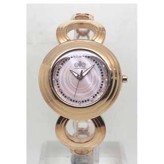 [清貨大減價] Elite Ladies Rose Gold Tone Bracelet Watch (E54314G-812)