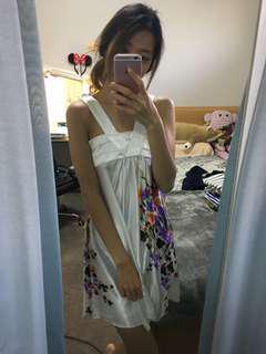 Silky White Flower Dress