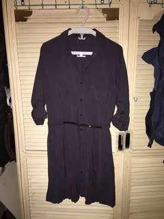 The Store Shirt Dress Navy Blue Medium