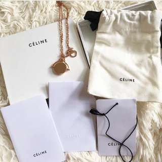 Celine 頸鏈 全新 頸鍊 有單 100% new. Necklace Chanel Gucci LV Bv YSL
