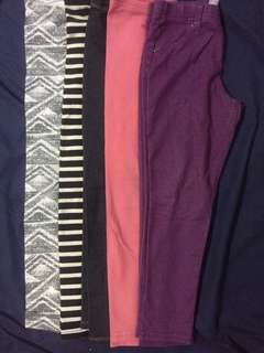 Assorted leggings for kids as pack 4-5yrs old