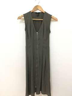 H&M zipper dress