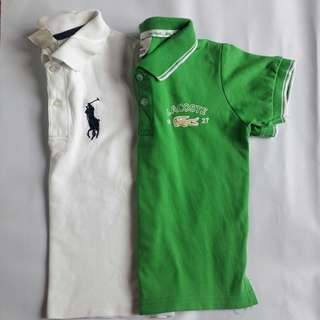 Ralph Lauren and Lacoste Polo