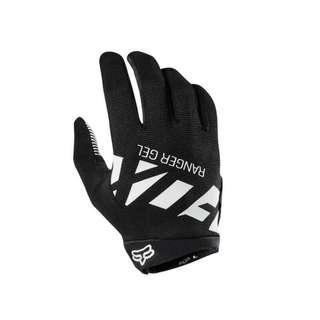 Fox Racing Head Ranger Gel Full Finger MTB Gloves - Black / White
