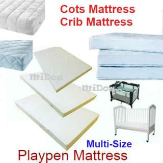Customize Baby cot mattress and playpen / new brand / any size