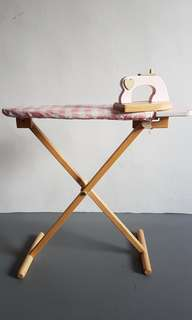 Wooden Ironing Board+Iron Drying Rack
