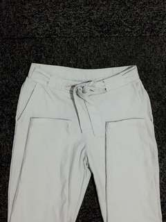 *sale Plain white trousers