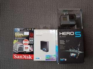 GoPro Hero 5 Black - Brand new