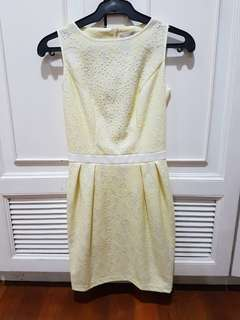 Dorothy Perkins Yellow Lace Dress