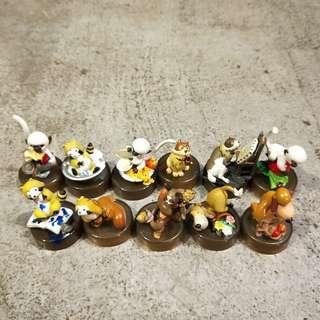 日本 2002 小浣熊 11個 世界名作劇場 狗絕版瓶蓋玩具擺飾收藏白猴子可愛杯蓋組合畫畫動畫漫畫蓋子