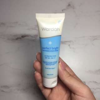 Wardah moisturizer with spf