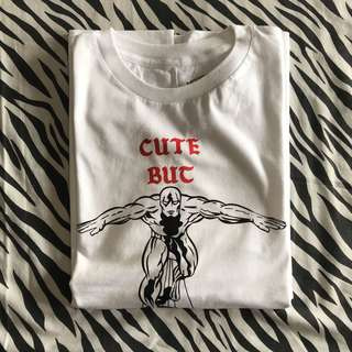 Invitationly cute but psycho white size xl new