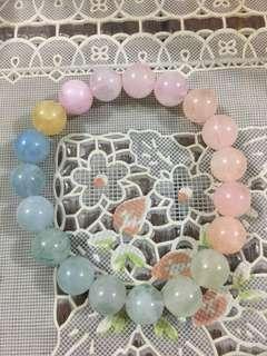 彩瑩石水晶手鏈