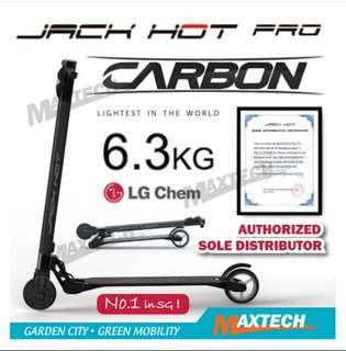 JACK HOT Carbon Fiber Electric Scooter (Compliant PMD/Safety Authority Approved)