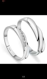 [ Mj & Aj] #22. white gold couple wedding engagement ring