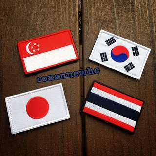 Military Flag Velcro Patch Badge