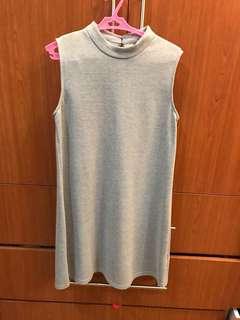Zalora Gray Sleeveless Dress