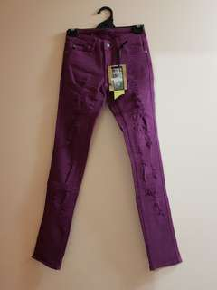 Purple Ripped Jeans