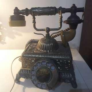 🚚 古董電話/旋鈕式撥號,全銅打造