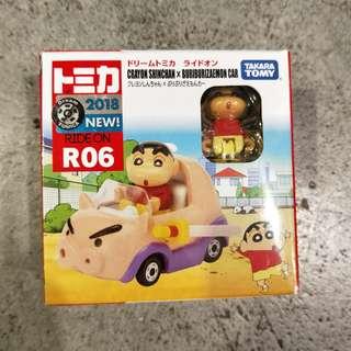 日本 日版TOMICA多美小車蠟筆小新不理不理左衛門豬tomy玩具車子收藏可動滾輪 R06