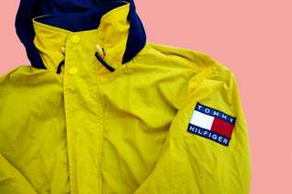 RARE Vintage Tommy Hilfiger Yellow Windbreaker Jacket