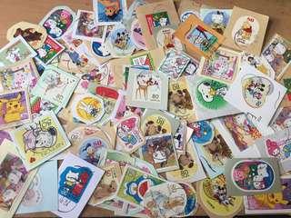 包郵 (有瑕疵)日本信銷卡通郵票(Disney,Sanrio,Teddy Bear,Snoopy,姆明......)