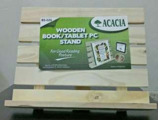 Wooden Book or Tablet Stand