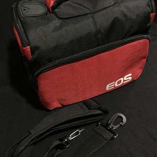 🚚 canon eos 相機包 紅+黑