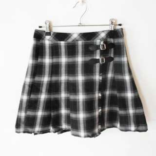 Plaid korean skirt