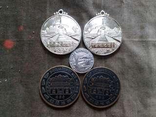 紀念章 紀念牌 5個