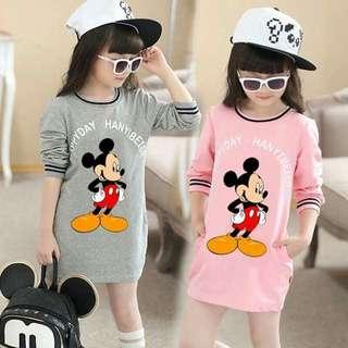 Kids mickey cotton dress