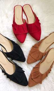 Pointed mule flats(PRE-ORDER)