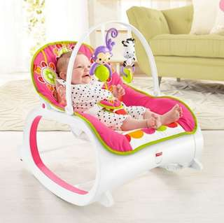 BN Fisher-Price Infant-to-Toddler Rocker, Pink Floral Confetti