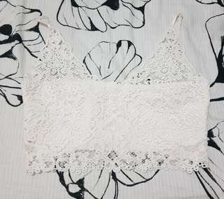 White Lace Top/Bralette